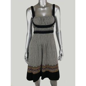 LITHE Sun Dress Size 6 Embroidered Geometric